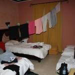 Slaapkamer vol met was