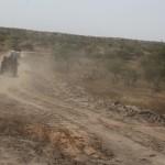 Slechte weg naar de grens met Senegal